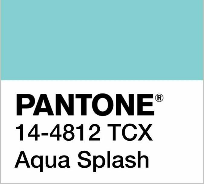 pantone aqua Splash